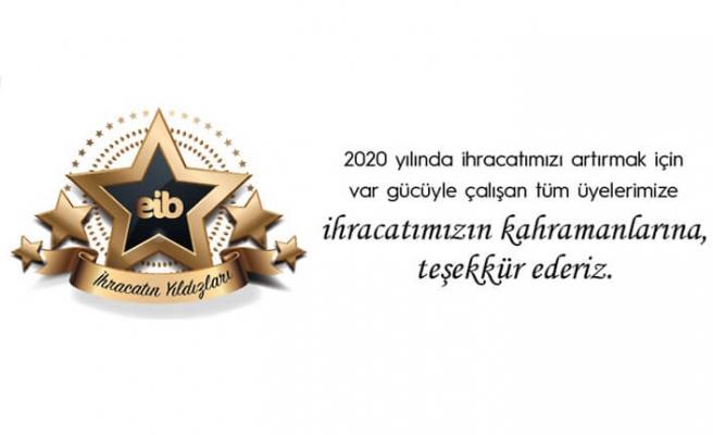 Ege ihracatının 2020 yılı yıldızları teşekkür ilanıyla duyuruldu