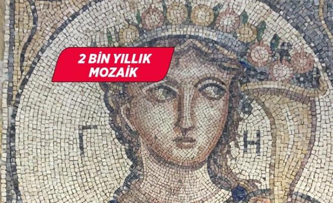 İzmir'de 2 bin yıllık olduğu değerlendirilen mozaik ele geçirildi