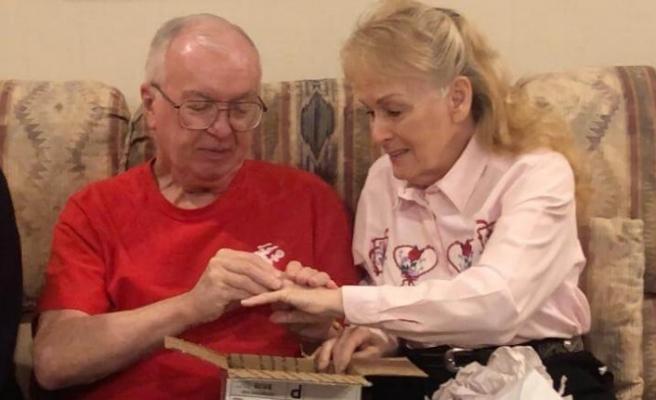 50 yıl önce kaybettiği alyansına Sevgililer Günü'nde kavuştu