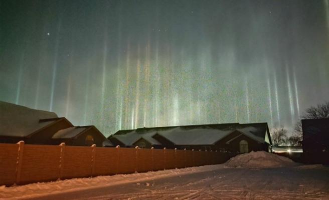 ABD'de nadir rastlanan 'ışık sütunları' fotoğraflandı