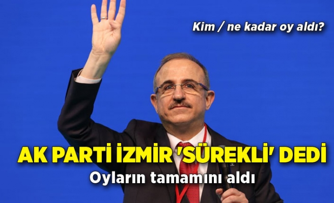 AK Parti İzmir 'Sürekli' dedi