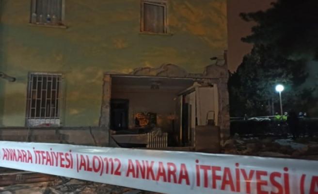Ankara'da doğal gaz patlaması: 2 yaralı