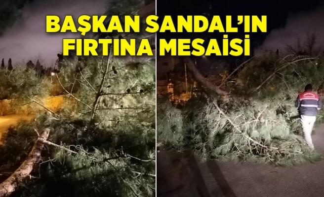 Başkan Sandal'ın fırtına mesaisi