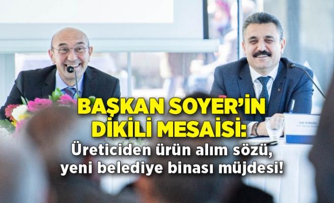 Başkan Soyer'in Dikili mesaisi: Üreticiden ürün alım sözü, yeni belediye binası müjdesi!