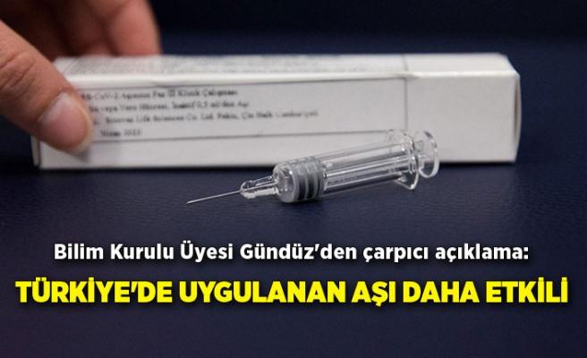 Bilim Kurulu Üyesi Gündüz'den çarpıcı açıklama: Türkiye'de uygulanan aşı daha etkili
