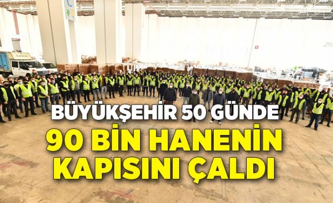Büyükşehir 50 günde 90 bin hanenin kapısını çaldı