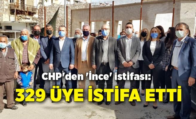 CHP'den 'İnce' istifası: 329 üye istifa etti