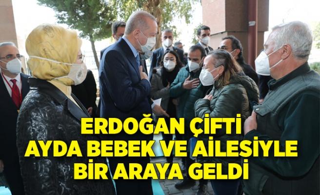 Erdoğan çifti, Ayda bebek ve ailesiyle bir araya geldi