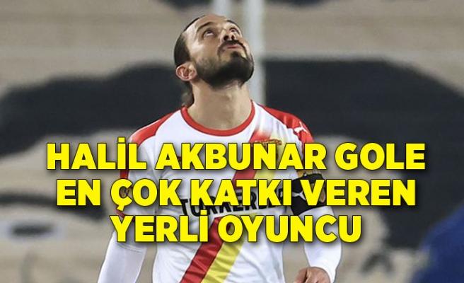Halil Akbunar gole en çok katkı veren yerli oyuncu