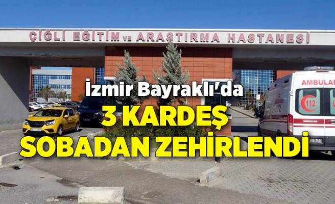 İzmir Bayraklı'da 3 kardeş sobadan zehirlendi