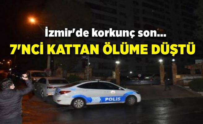 İzmir'de korkunç son... 7'nci kattan ölüme düştü