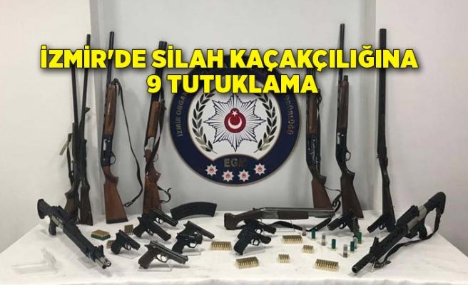 İzmir'de silah kaçakçılığına 9 tutuklama