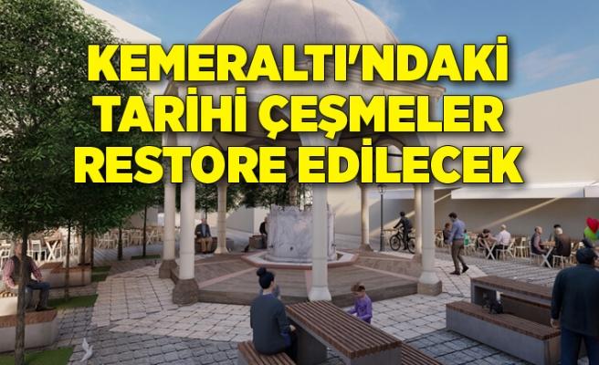 Kemeraltı'ndaki tarihi çeşmeler restore edilecek