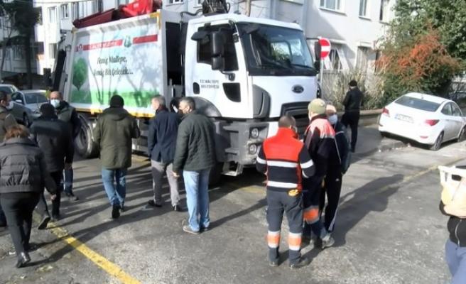 Maltepe'de çöp toplama gerginliği