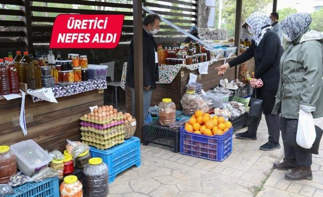 Üretici Köy Pazarı, Bucalı üreticilere nefes aldırdı