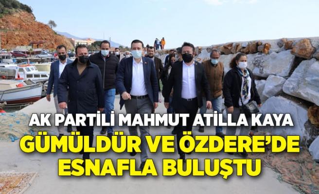 AK Partili Mahmut Atilla Kaya, Gümüldür ve Özdere'de esnaflarla buluştu