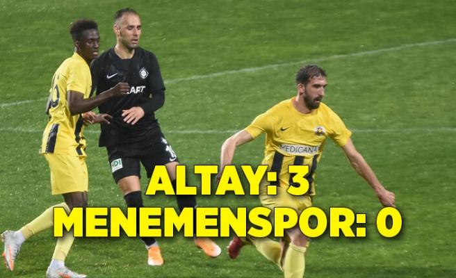 Altay: 3 - Menemenspor: 0
