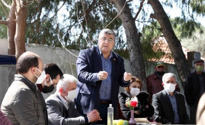 Arazileri satışa çıkarılan köylere CHP'li Sındır'dan çıkarma