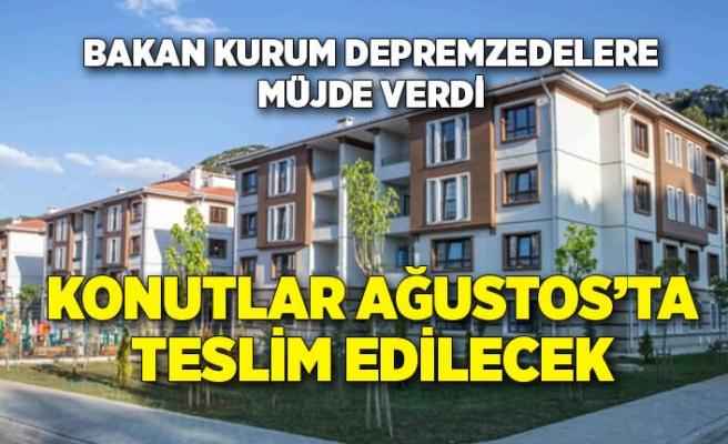 Bakan Kurum açıkladı: İzmir'deağustos ayındailk konut teslimlerimize başlayacağız