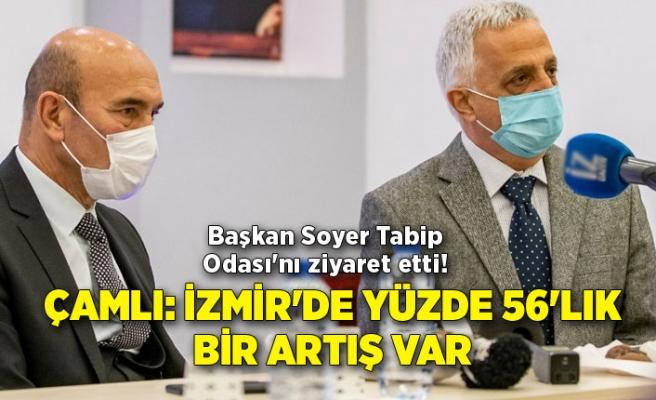 Başkan Soyer Tabip Odası'nı ziyaret etti! Çamlı: İzmir'de yüzde 56'lık bir artış var