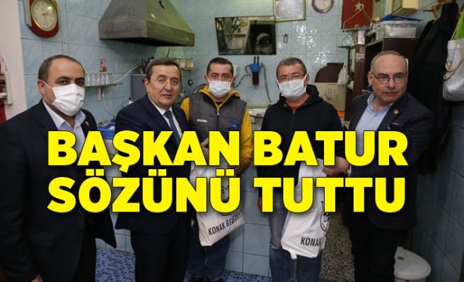 Batur, kahveci esnafına verdiği sözü tuttu