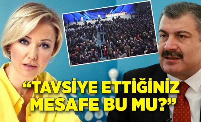 """Berna Laçin'den Fahrettin Koca'ya """"AK Parti Kongresi"""" soruları!"""