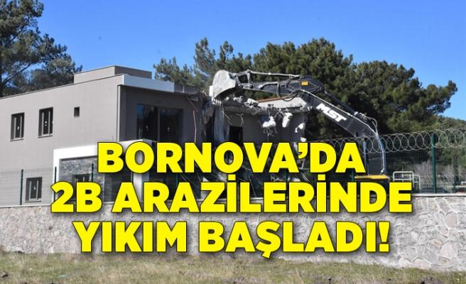 Bornova'daki 2B arazilerinde yıkım başladı