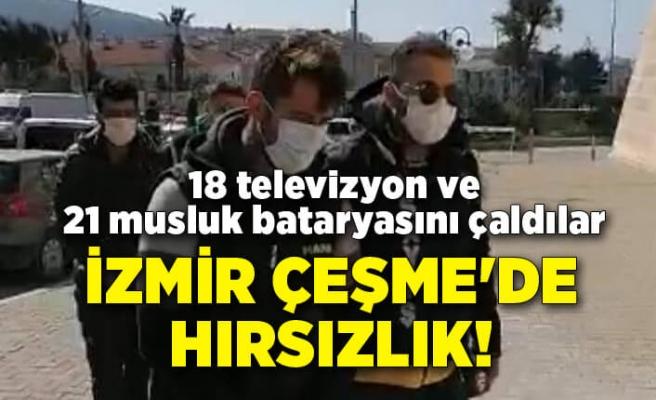 Çeşme'de otelde hırsızlık! 18 televizyonve 21 musluk bataryasını çaldılar