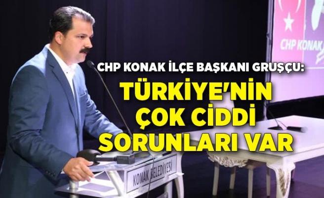 CHP Konak İlçe Başkanı Gruşçu: Türkiye'nin çok ciddi sorunları var