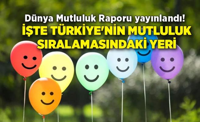 Dünya Mutluluk Raporu yayınlandı! İşte Türkiye'nin mutluluk sıralamasındaki yeri