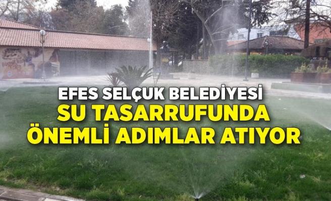 Efes Selçuk'ta otomatik sulama ile yüzde 93 tasarruf