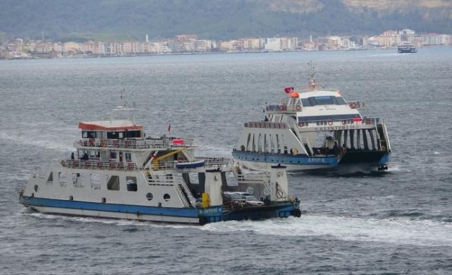 Gökçeada ve Bozcaada'ya feribot seferleri yapılamıyor