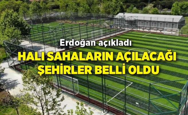 Halı sahalar açılacak mı? Cumhurbaşkanı Erdoğan açıkladı