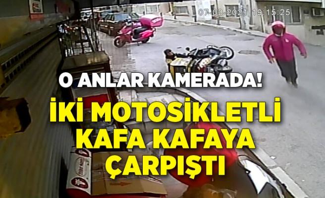 İki motosikletli kafa kafaya çarpıştı!