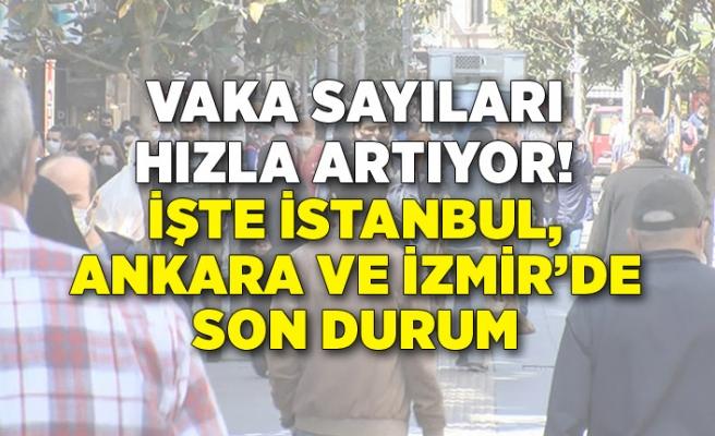 İstanbul, Ankara ve İzmir'de son durum