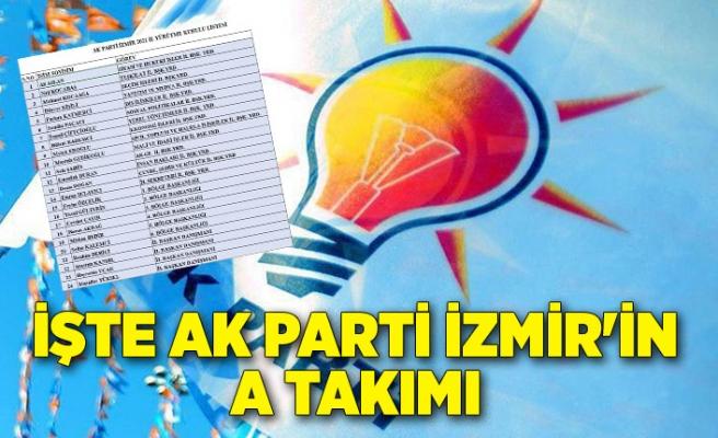 İşte AK Parti İzmir'in A Takımı