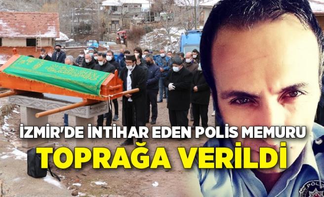 İzmir'de intihar eden polis memuru, Çankırı'da toprağa verildi