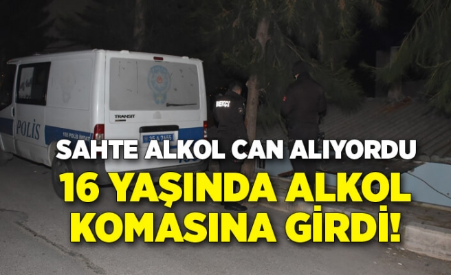 İzmir'de sahte alkol! 16 yaşındaki genç komaya girdi