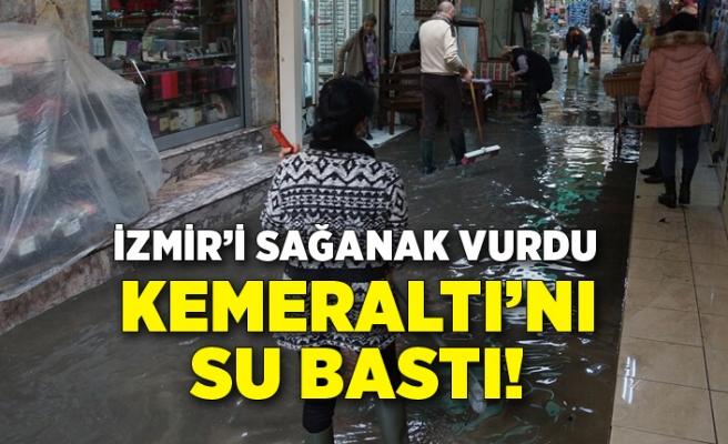 İzmir'i sağanak vurdu! Kemeraltı'nda su baskınları yaşandı