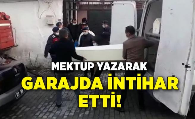 İzmir Kınık'ta kendisini garajında iple astı