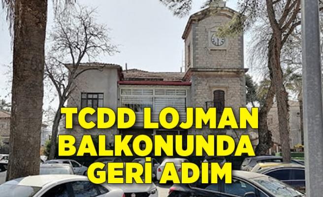 İzmir Konak'ta TCDD lojman balkonunda geri adım
