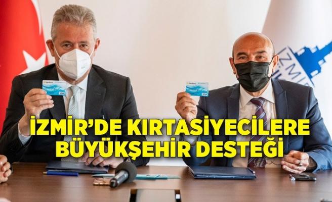 İzmir'de kırtasiyecilere Büyükşehir desteği