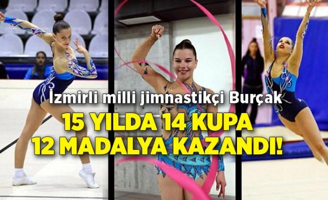 İzmirli milli jimnastikçi Burçak 15 yılda 14 kupa 12 madalya kazandı!