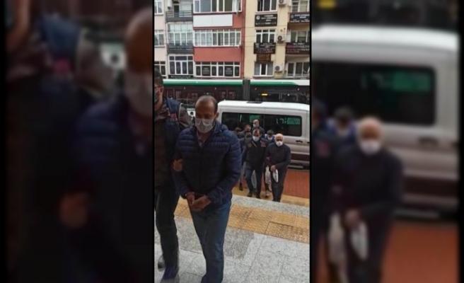 Kocaeli'de PKK operasyonunda 9 kişi adliyede