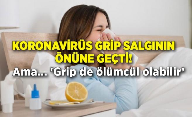Koronavirüs grip salgının önüne geçti!