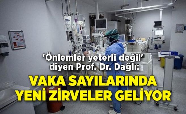 'Önlemler yeterli değil' diyen Prof. Dr. Dağlı: Vaka sayılarında yeni zirveler geliyor