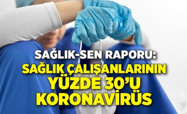 Sağlık-Sen raporu: Sağlık çalışanlarının yüzde 30'una koronavirüs teşhisi konuldu