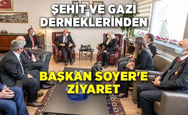 Şehit ve gazi derneklerinden Başkan Soyer'e ziyaret