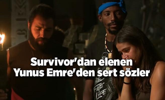 Survivor'dan elenen Yunus Emre'den sert sözler