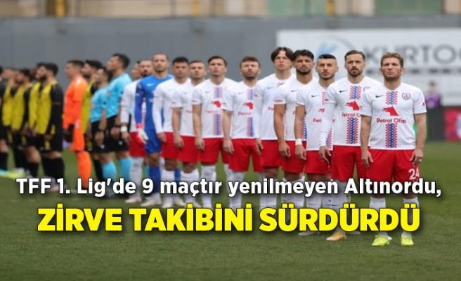 TFF 1. Lig'de 9 maçtır yenilmeyen Altınordu, zirve takibini sürdürdü